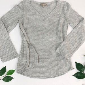 BANANA REPUBLIC | Grey Knit Zippered Sweater